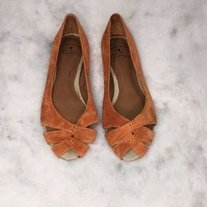 LUCKY BRAND | SIZE 7 1/2 | ORANGE | FLATS